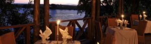 Chobe Marina Lodge view from the dinning area