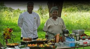 Staff at Chilwero Lodge