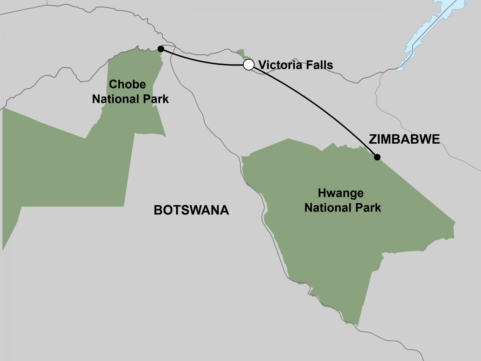 Chobe, Victoria Falls and Hwange Safari